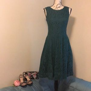 Garnet Hill Green Dress